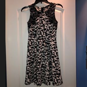 Black and White Juniors Dress